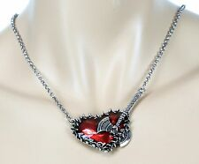 Red AXE Heart Spike  Steampunk Necklace Pendant Punk Gothic Rockabilly Cosplay