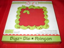 Sizzix Bigz Die, FRAME, SCALLOP WITH HOLLY,  NEW  #655543 Holidays