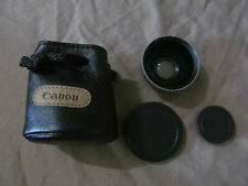 Canon WD-28 28mm 0.7x Wide Angle Converter Lens with Case in EUC!!