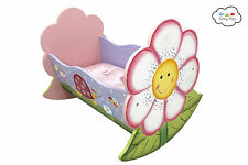 Fantasy Fields by Teamson Magic Garden Rocking Bed For Dolls