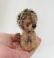 * BABY NEEDLE *A CUTE 5 INCH MOHAIR HEDGEHOG*NO RESERVE*