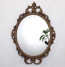 Wandspiegel oval verziert Deko-Spiegel Schmuck Spiegel Barock Antik 44 x 30 cm
