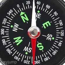 100% Brand New Direction Survival Liquid Filled Button Compass Hiking Camping