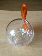 Guzzini Designer Egg Cup With Orange Spoon Made In Italy