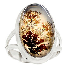 Russian Dendritic Agate 925 Sterling Silver Ring Jewelry s.5 RR7996