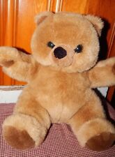 "Dex Womb Teddy Bear Heart Beat Brown Plush Mother Baby Infant Soothing 14"" Toy"