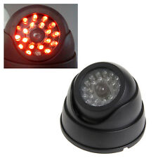 Indoor Outdoor Dummy Fake Security CCTV Dome Camera With Flashing Red LED Light