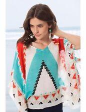 Theodora & Callum Turquoise Nomad Scarf Top, Neiman Marucs $195., Travel Chic