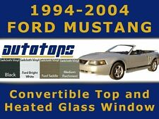 Mustang Convertible Soft Top and Heated Glass Window  Install Video  94-04