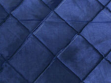 "NAVY BLUE 2""X2"" DIAMOND PINTUCK TAFFETA FABRIC $4.50/YARD"