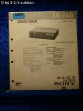 Sony Service Manual XR 740 Car Stereo (#3028)