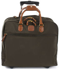 Bric's Luggage X-Travel Pilot Case with Wheels Carry On - Olive