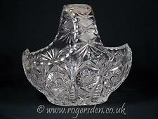Crystal Glass  Very Large Crystal Basket Very High Quality Cut & Very Heavy