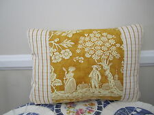 Pierre Deux Gold La Declaration French Country Toile Pont Aven Accent Pillow