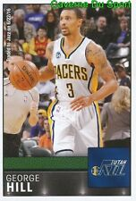 302 GEORGE HILL USA UTAH JAZZ STICKER NBA BASKETBALL 2017 PANINI
