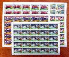 World Cup Football 5 Sheetlets of 25 - 125 Stamps NEW SALE PRICE BIN944