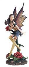 "10"" Inch Beautiful Sexy Fairy with Rose Statue Figurine Figure Fairies Magic"