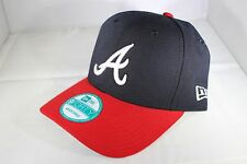 Era la LEGA NEW 9 QUARANTA Atlanta Braves Strapback Berretto da Baseball-Navy (BNWT)