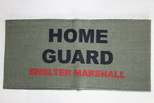 WW2 HOME FRONT REENACTMENT HOME GUARD SHELTER MARSHALL ARMBAND QUALITY COPY #1