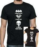 Marvels PUNISHER Offensive 'It means you're f*@#ed  T-shirt ..up to 5XL.