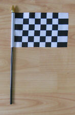 Black and White Checkered Hand Flag - small