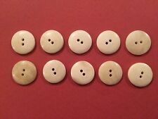 12mm Bone Buttons (10 Pack) - Re-Enactment, Costume, Living History