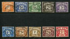 GB GREAT BRITAIN E2R ST.EDWARD sg d46-d55 POSTAGE DUES F/USED SET