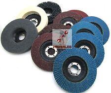 "New 11pc 4-1/2"" x 7/8"" Flap Disc & Polish Set Strapping Sponge Aluminum Zirconia"