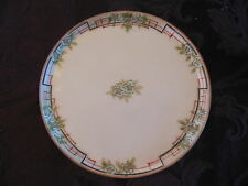 Vintage 6 inch Plate Paintee IPPO on back green red flowers