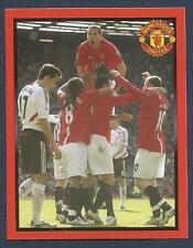 PANINI MANCHESTER UNITED 2008/09 #181-PLAYERS CELEBRATE WITH RIO THE TALLEST!