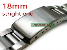 18mm Straight End Solid Steel Replacement Bracelet Watchband For BubbleBack