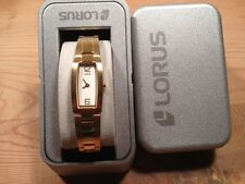 New - Reloj Watch LORUS Ref.RRS05FX-9 - Quartz  Golden steel Acero dorado  Nuevo