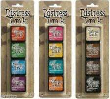 Tim Holtz MINI DISTRESS INK PADS SETS 1, 2, & 3 Ranger DMIPSX3 in stock!