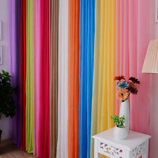 Multicolor Valances Tulle Voile Window Curtain Drape Panel Sheer Curtains Solid