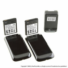 2x 4300mAh extended battery for Samsung Galaxy S3 + Black cover + Dock Charger