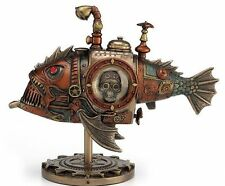 Steampunk Submarine - Melanocetus-Unus Anglerfish Statue Sculpture Figure