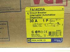 NIB .. Square D 30A, 1P I-Line Circuit Breaker Cat# FA14030A  ... VJ-88