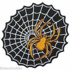 Spider Web Spiderweb Tattoo Biker Rider Motorcycles Hallow Iron-On Patches #A029