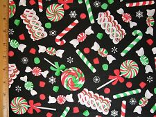 Holiday Candy Christmas Print cotton fabric BY THE YARD