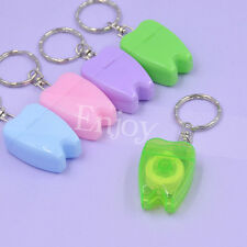 Cute Candy Color Portable Dental Floss Keychain Oral Health Hygiene Random 1pc