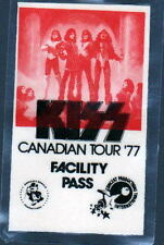 KISS CANADIAN TOUR 1977 FACILITY PASS ALL ACCESS Backstage Pass UNUSED