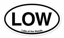 "LOW Lake of the Woods Oval car window bumper sticker decal 5"" x 3"""