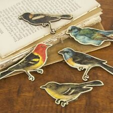 "Prima 556532  ""Birds Wood Embellishments ""  4  Pieces  NEW"