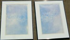 TWO ARIE TRUM SIGNED PRINTS CALLIGRAPHY ART  COLOR LITHOGRAPH 20/50 EDITION