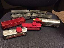 TYCO Lot of 8 Model Trains, Santa Fe, Silver Streak, Virginian