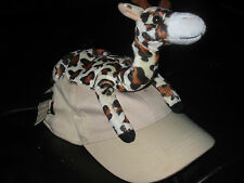 Boy's Lil Tots Giraffe Cap Hat, Fits Ages 6,7,8,9,10-Adjustable, Great for Zoo!!