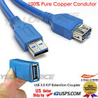 SuperSpeed USB 3.0 Type AM to Type AF Extension Cable 6FT+USB 3.0 Female Coupler