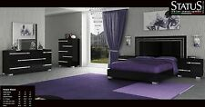 VOLARE - QUEEN SIZE MODERN BLACK BEDROOM SET 5PC MADE IN ITALY