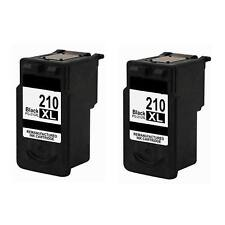 2PK Remanufactured Canon PG-210XL Black Ink Cartridge PIXMA iP2700 MP240 MP280