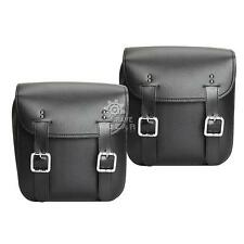 PU leather Motorcycle Saddlebag Fit Harley Road King Classic FLHRC FLHR Fatboy
